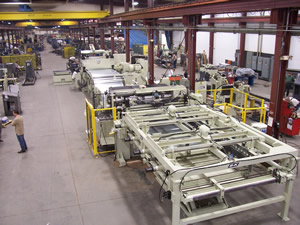 B&K Cut to Length System Stacker View